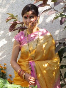 A women in her traditional attire