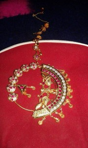 A traditional design with semi precious stones and gold