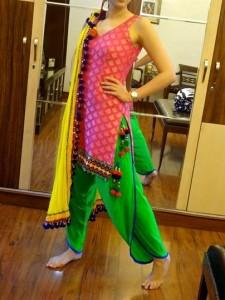 The dhoti style salwars