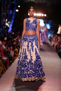 Fitted crop top with lehnga skirt from Manish Malhotra