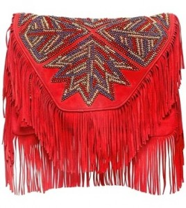Fringed Suede Bag