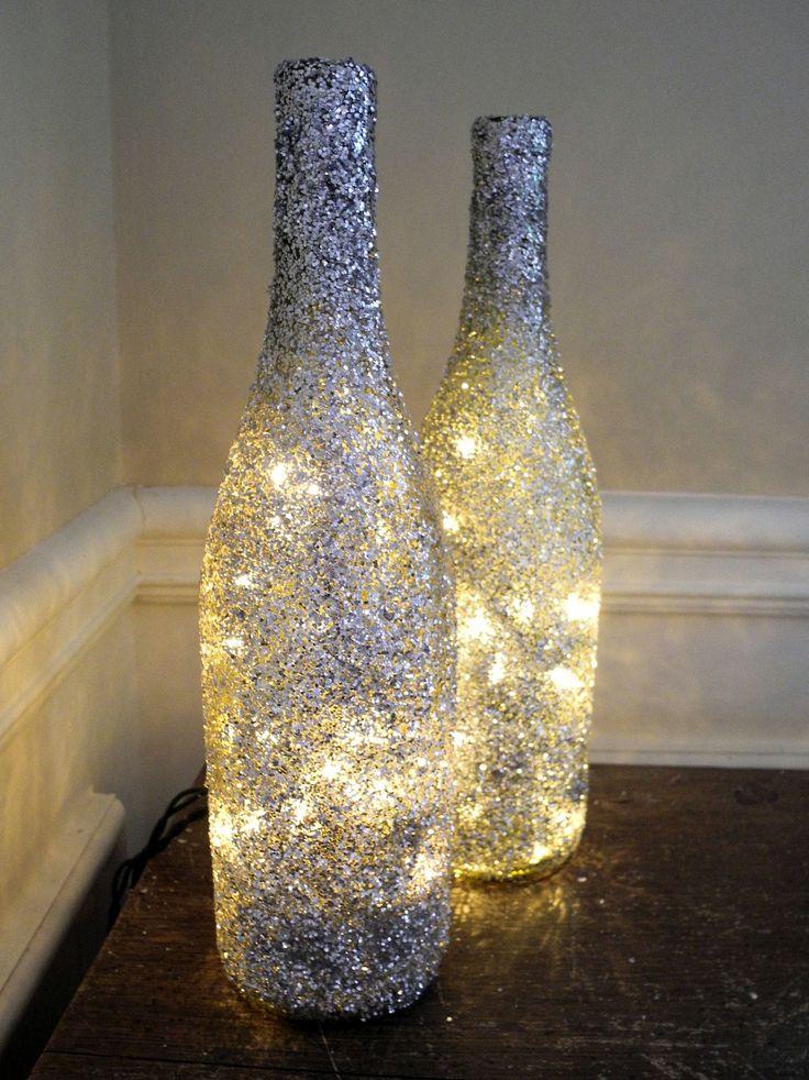 Glitter Wine Bottle