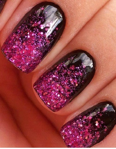 GLITTER ON SINGLE COLOR