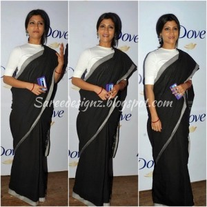 Konkana Sen Sharma in a khadi saree