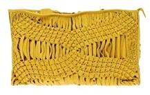 Leather Macramé' clutch