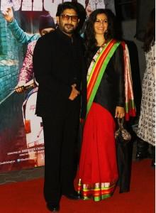 Maria Goretti at Dedh Ishqiya premiere wearing khadi