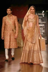 A model in Harpreet and Narula outfit