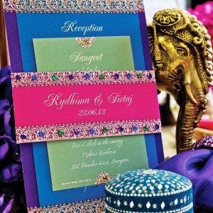 Bejeweled Wedding Card