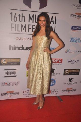 Deepika Padukone in Golden heels