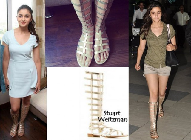 Alia Bhatt in golden gladiators