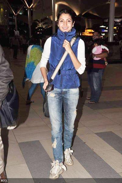 Anuskha Sharma in bling shoes