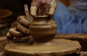 Earthen pot making
