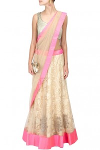 The saree style drape