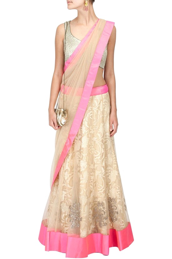 The saree style drape