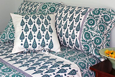 Block Printed Home Textiles