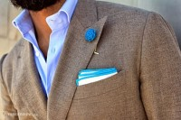 Broach and pocket square