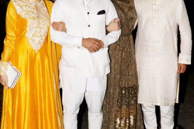 Karishma Kapoor at Shilpa Shetty party