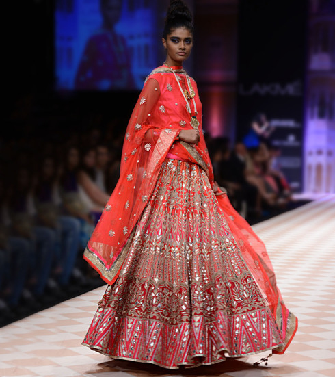 Machine Gota Work Lehnga