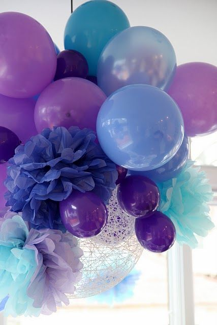 Ballons and Tissue Flowers