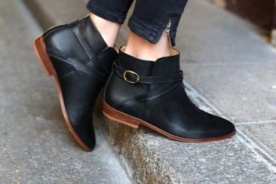 Buckled Strap Boots