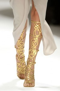 Knee length gladiators