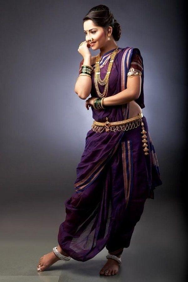 Marathi Style Saree