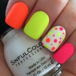 Neon Nail Art - Burst Of Colors
