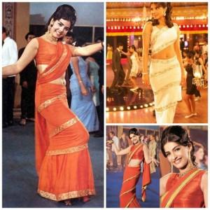 Mumtaz style saree