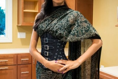 Saree with Corset