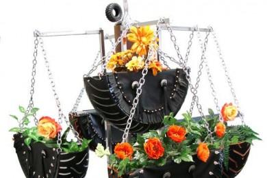 Tyre Hanging Garden