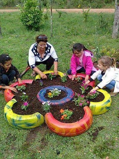 Tyre Mini Garden