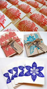 Block Print Book Covers