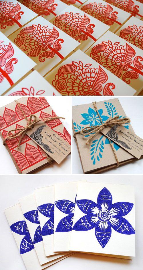 Block Print Book Covers