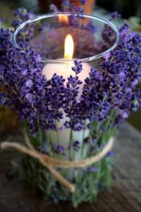 Floral Candle Jar