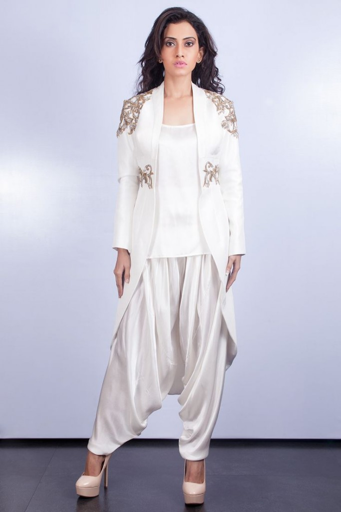 Kurta and Assymetric jacket