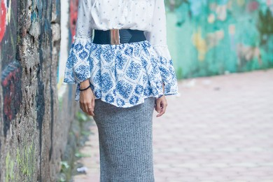 Kurta and Pencil skirt