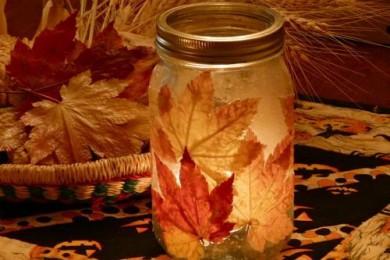 Maple Leaf Candle Jar