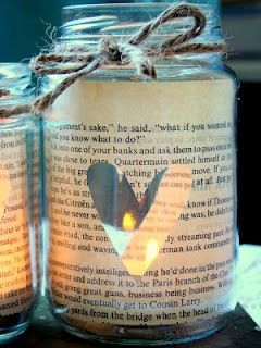 Newspaper Print Candle Jar