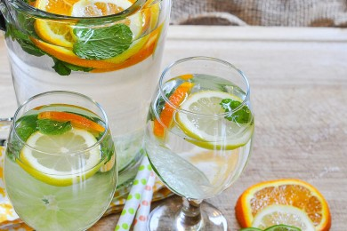 Orange and Mint Water