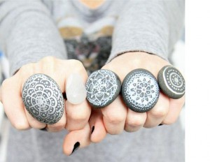 Pebble Finger rings