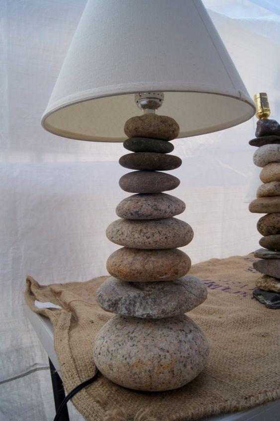 Pebble lampshade