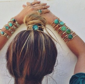 Bracelet for hair bun