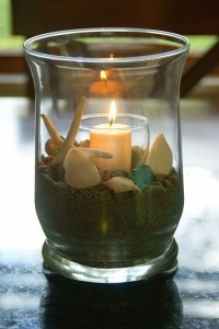 Candle stand and shells