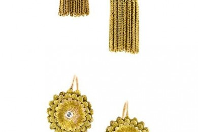 Floral Chain Earrings