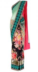Floral Print Saree