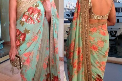 Floral Prints For Saris- Go The Traditional Way