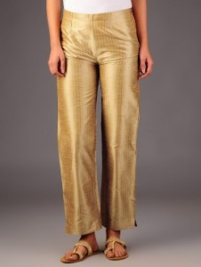 Golden Tussar Pants