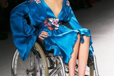 Model in Wheelchair