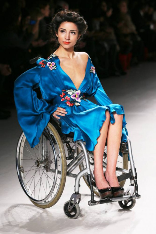 Model in Wheelchair