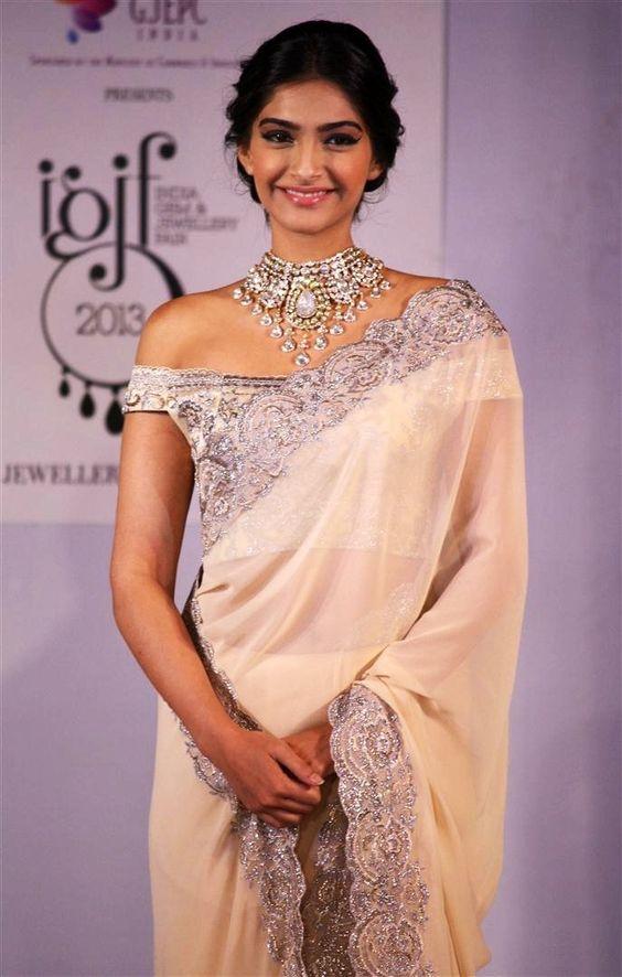 Sonam Kapoor off shoulder Blouse